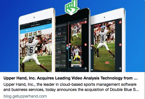 Double Blue Sports Sells Video Coaching Products to Upper Hand